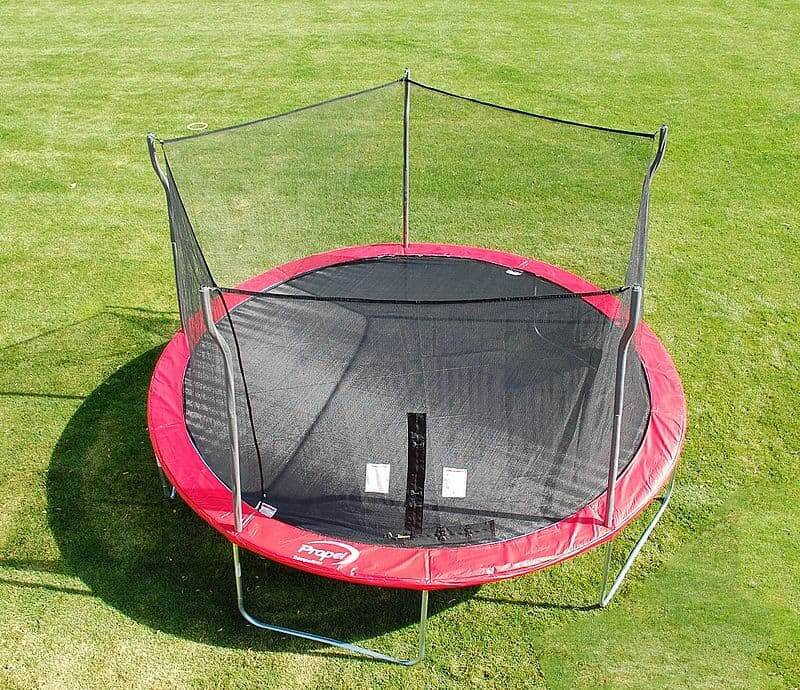 a sheet or web supported by springs in a metal frame and used as a springboard