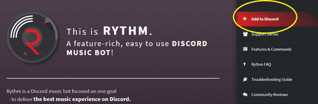 Click on Add to discord button