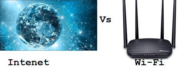 difference between wifi and internet