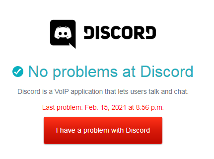 check discord server status for discord images not loading